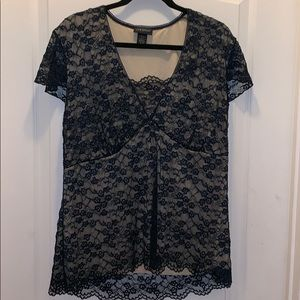 Blue laced blouse
